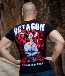 "T-shirt OCTAGON ""WELCOME TO MY WORLD"" czarny, Zdjęcie 2"