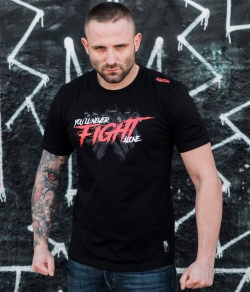 "T-shirt PGWEAR ""FIGHT"" czarny"