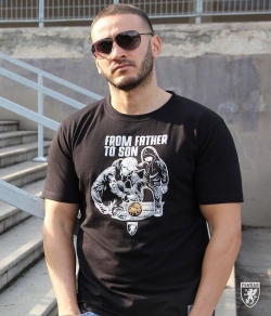 "T-shirt PGWEAR ""FROM FATHER TO SON"" czarny"