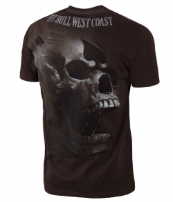 "T-shirt PIT BULL ""ACE OF SPADES'' brązowy"