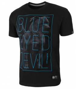 "T-shirt PIT BULL ""BLUE EYED DEVIL'18 2'' czarny"