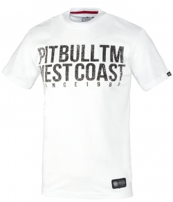 "T-shirt PIT BULL ""BUSINESS US USUAL"" biały"