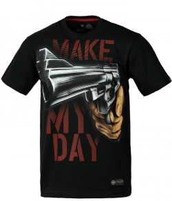 "T-shirt PIT BULL ""MAKE MY DAY 17"" czarny"