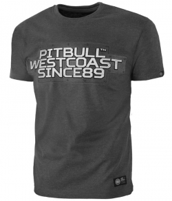 "T-shirt PIT BULL ""RATING PLATE"" ciemnoszary"