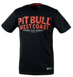 "T-shirt PIT BULL ""WANNA PLAY GAMES 17"" czarny"