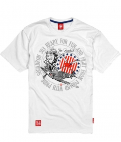"T-shirt ULTRAPATRIOT ""MODEL B39"" biały"
