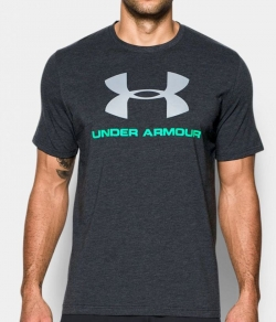 "T-shirt UNDER ARMOUR ""LOGO"" grafitowy"