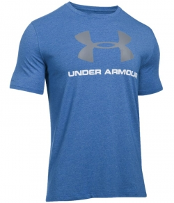 "T-shirt UNDER ARMOUR ""LOGO"" niebieski"