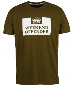 "T-shirt WEEKEND OFFENDER ""PRISON TEE"" brązowy"