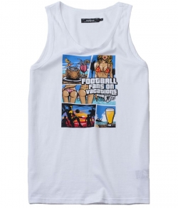 "Tank Top PGWEAR ""VACATIONS"" biały"