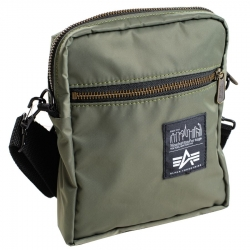 "Torebka ALPHA INDUSTRIES & MANHATTAN PORTAGE ""COURIER BAG"" oliwkowa"