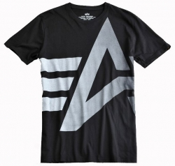 "T-shirt ALPHA INDUSTRIES ""BIG LOGO"" czarny"