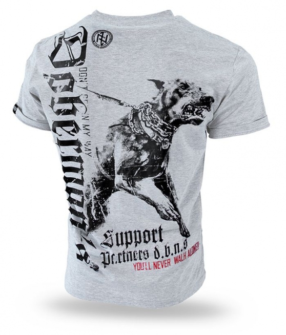 T-shirt DOBERMANS SUPPORT TS220 szary - Picture 1