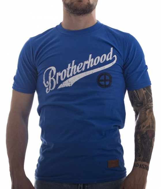 T-shirt EUROPEAN BROTHERHOOD BROTHERHOOD niebieski - Obrzek 1