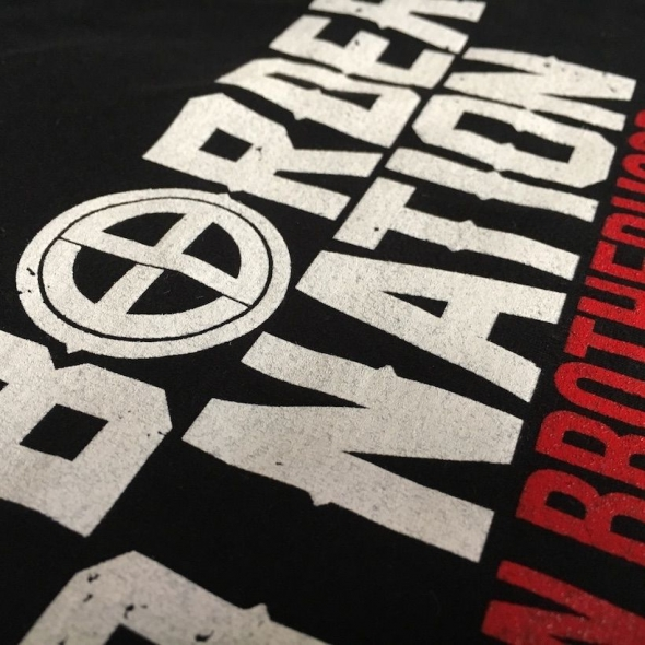 T-shirt EUROPEAN BROTHERHOOD PRO BORDER PRO NATION czarny - Obrzek 1