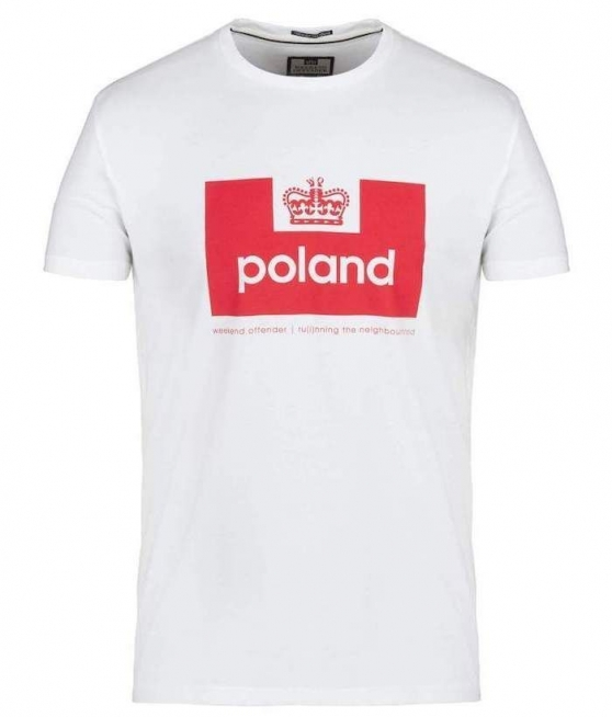 T-shirt WEEKEND OFFENDER POLAND biay - Zdjcie 1
