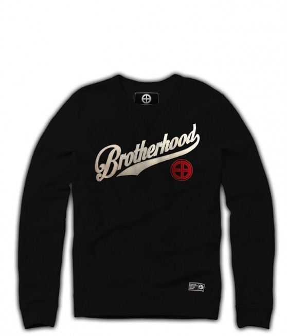 Bluza EUROPEAN BROTHERHOOD BROTHERHOOD czarna prosta - Zdjcie